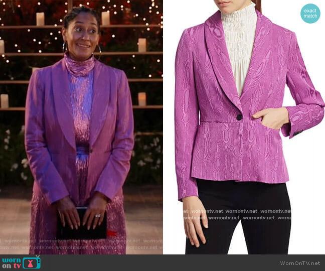 Rendez Jacquard Blazer by Rachel Comey worn by Rainbow Johnson (Tracee Ellis Ross) on Blackish