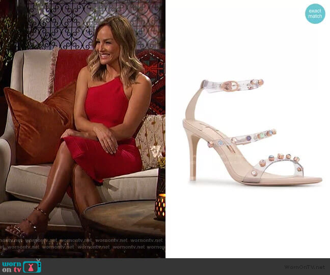 Rosalind Gem Mid Sandals by Sophia Webster worn by Clare Crawley  on The Bachelorette