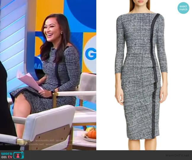 Rosmarijn Checked Dress by Chiara Boni La Petite Robe worn by Eva Pilgrim  on Good Morning America