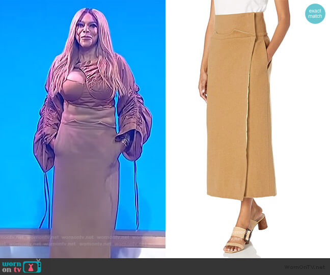 Wrap Skirt by Sanders Bos worn by Wendy Williams  on The Wendy Williams Show