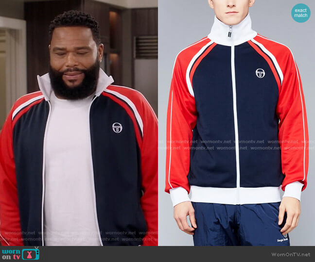 Ghibli Archivio Tracktop by Sergio Tacchini worn by Andre Johnson (Anthony Anderson) on Blackish