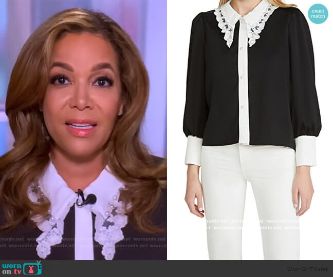 RSVP Lace Collar Blouse by Sister Jane worn by Sunny Hostin  on The View