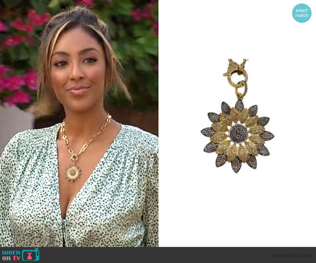 Starburst Pendant by The Woods Fine Jewelry  worn by Tayshia Adams  on The Bachelorette