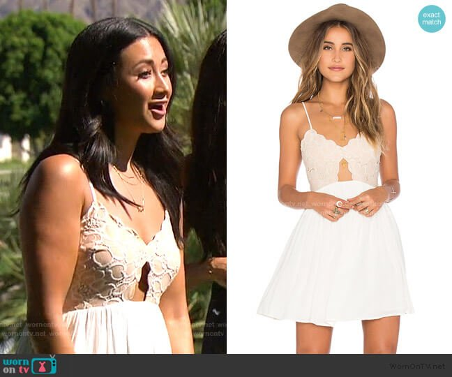 Bryce Mini Dress by Tularosa worn by Sydney Maree Lotuaco on The Bachelorette