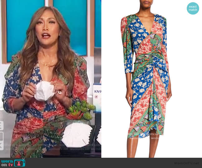 Mary Dress by Veronica Beard worn by Carrie Inaba  on The Talk