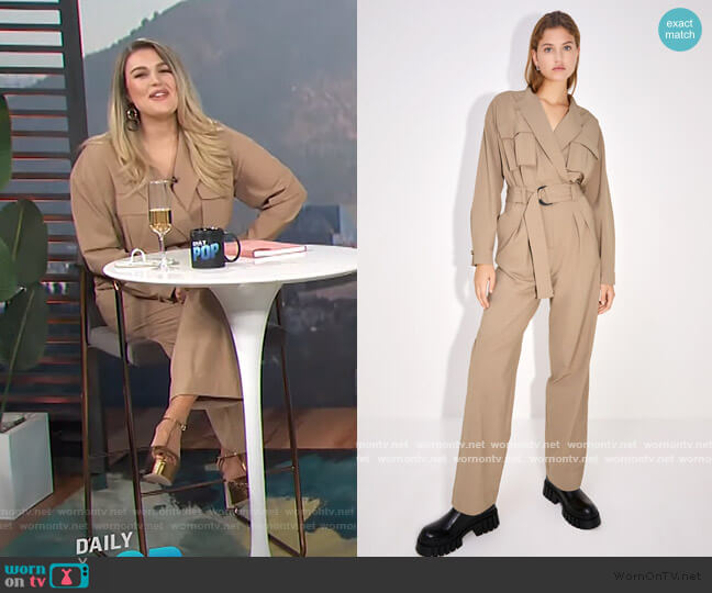 Long Jumpsuit with Pockets by Zara worn by Carissa Loethen Culiner  on E! News