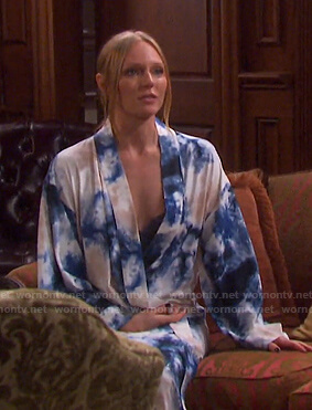Abigail's tie dye robe on Days of our Lives