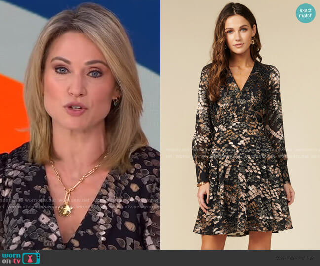 Vesela Dress by Adelyn Rae worn by Amy Robach  on Good Morning America