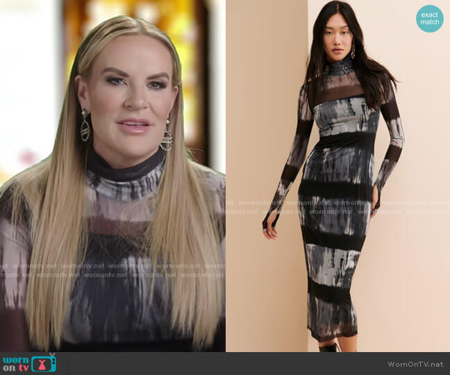 Shailene Midi Dress by AFRM worn by Heather Gay  on The Real Housewives of Salt Lake City