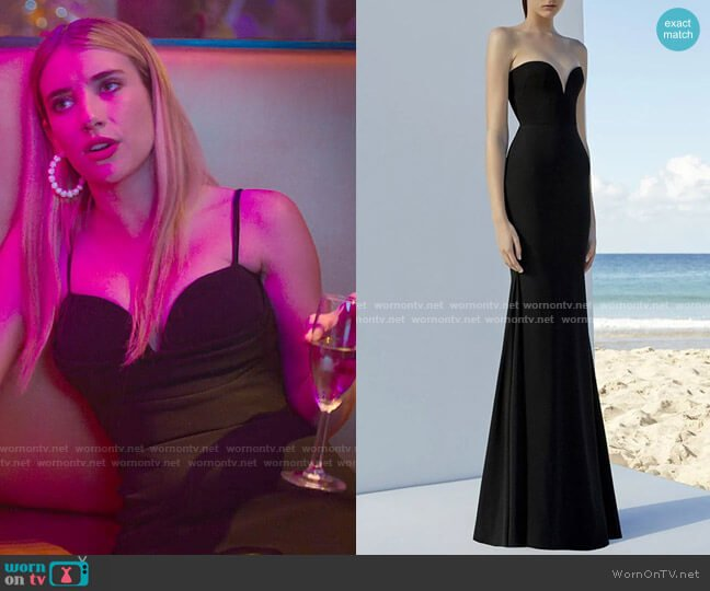 Alex Perry Howell Gown worn by Sloan (Emma Roberts) on Holidate (2020)