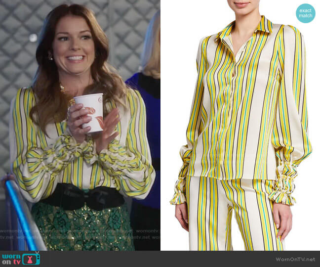 Alexis Catina Blouse worn by Rose Monreaux (Aubrey Dollar) on Filthy Rich