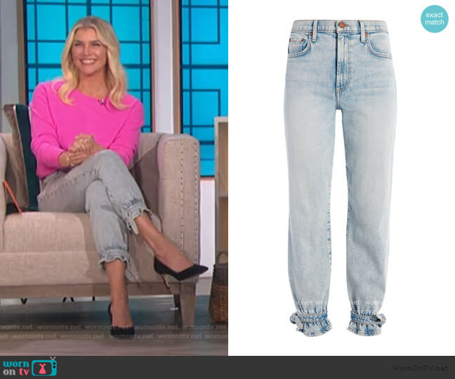 Amazing High Rise Tie Pants by Alice + Olivia worn by Amanda Kloots  on The Talk