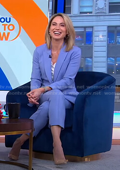 Amy's blue suit on Good Morning America