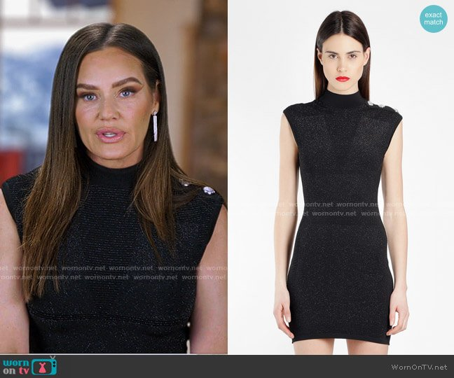 Lurex Dress by Balmain worn by Meredith Marks  on The Real Housewives of Salt Lake City