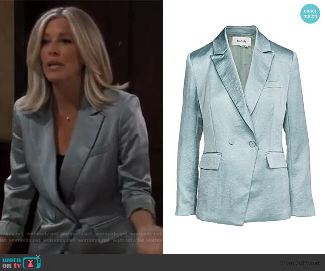 Wilie Blazer by ba&sh worn by Carly Corinthos (Laura Wright) on General Hospital