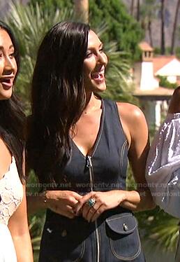 Rebecca Kufrin's zip front denim dress on The Bachelorette