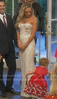 Braunwyn's white wedding dress on The Real Housewives of Orange County