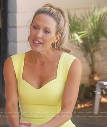 Braunwyn's yellow mini dress on The Real Housewives of Orange County