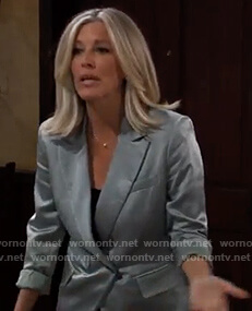 Carly's light blue blazer on General Hospital