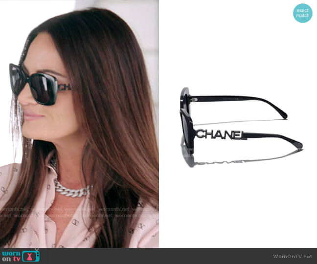 Sunglasses by Chanel worn by Lisa Barlow  on The Real Housewives of Salt Lake City