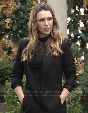 Chloe's black coat on The Young and the Restless