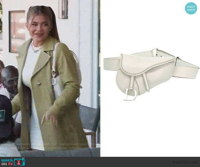Saddle Leather Clutch Bag by Christian Dior worn by Kylie Jenner  on Keeping Up with the Kardashians