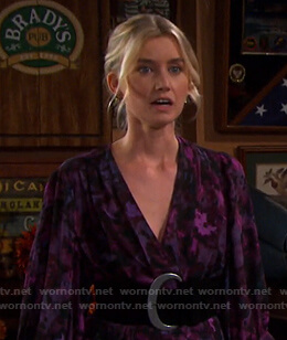 Claire's purple floral maxi dress on Days of our Lives