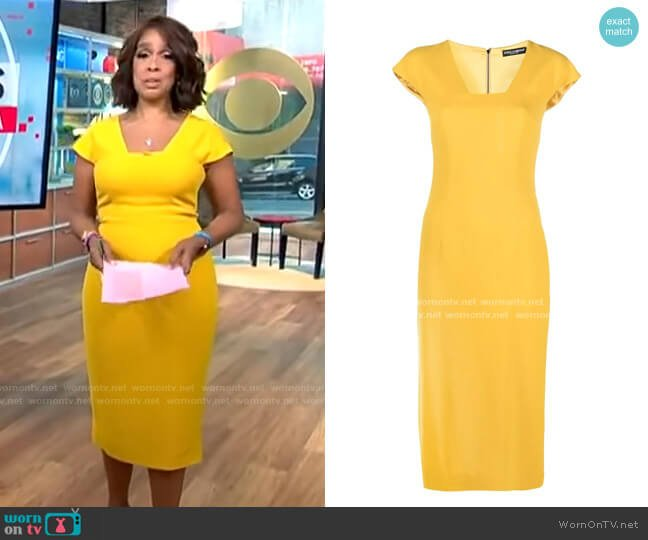 Dolce & Gabbana Cady Midi Dress worn by Gayle King  on CBS This Morning