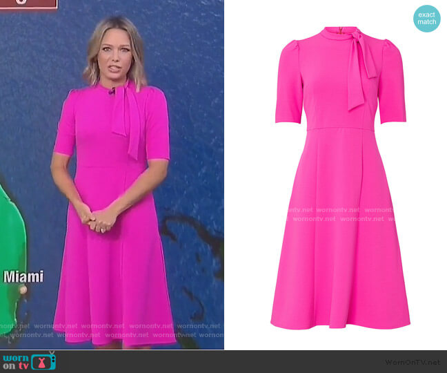 Tie Neck Dress by Donna Morgan worn by Dylan Dreyer  on Today