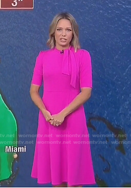 Dylan's pink tie neck dress on Today