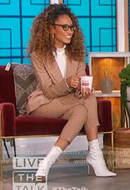 Elaine Welteroth's check blazer and pants on The Talk