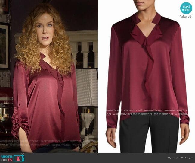 Elie Tahari Marlow Blouse worn by Grace Fraser (Nicole Kidman) on The Undoing