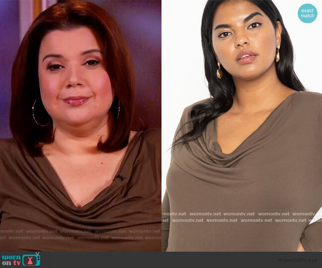 Cowl Neck Tee by Eloquii worn by Ana Navarro  on The View