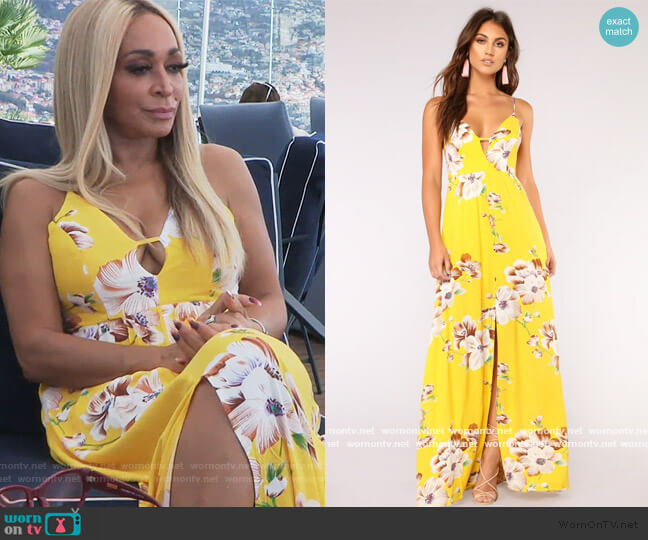 Sun City Floral Dress by Fashion Nova worn by Karen Huger  on The Real Housewives of Potomac