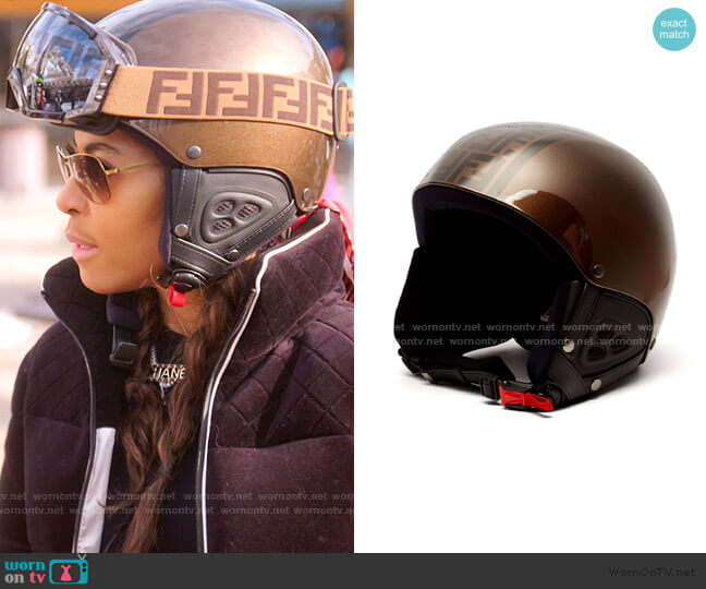 FF Protective Helmet by Fendi worn by Mary Cosby  on The Real Housewives of Salt Lake City