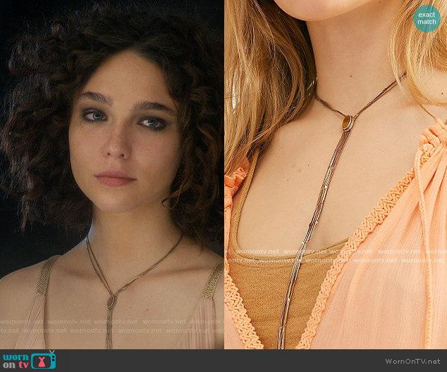 Free People Olivia Bolo Necklace worn by Elena Alves (Matilda De Angelis) on The Undoing