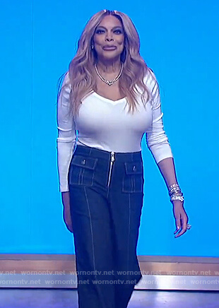 Wendy's pocket front denim jeans on The Wendy Williams Show