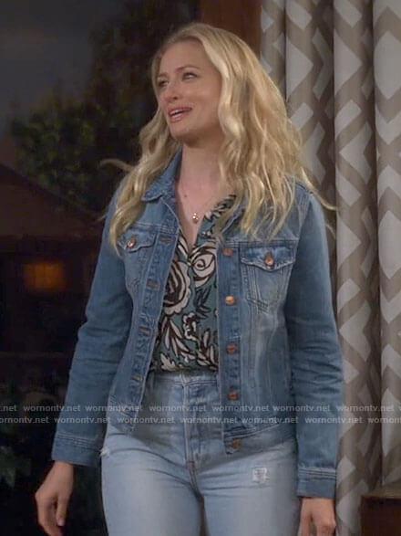 Gemma's denim jacket on The Neighborhood