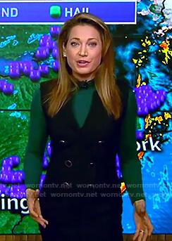 Ginger's black sleeveless blazer dress on Good Morning America