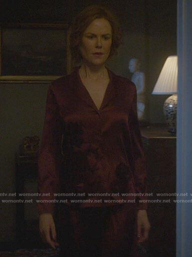 Grace's red silk pajama set on The Undoing