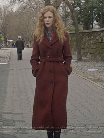 Grace's long red coat on The Undoing
