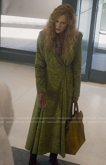 Grace's long green coat on The Undoing