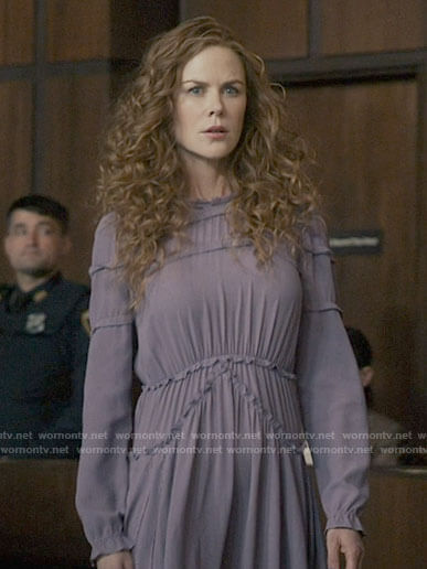 Grace's purple courtroom dress on The Undoing