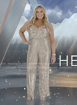 Heather's sequin jumpsuit on The Real Housewives of Salt Lake City