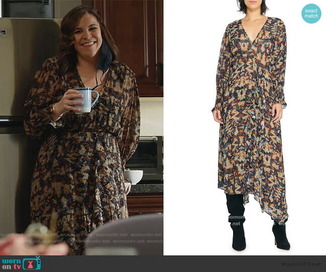 Jorma Dress by IRO worn by Sara Castillo (Lindsay Mendez) on All Rise
