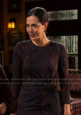 Jan's snake print dress on Days of our Lives