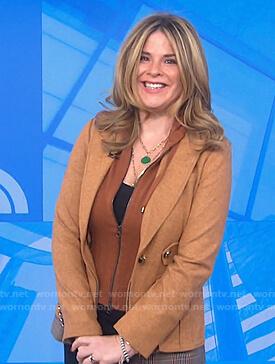 Jenna's camel hooded blazer on Today