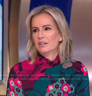 Jennifer's floral print mock neck top on Good Morning America