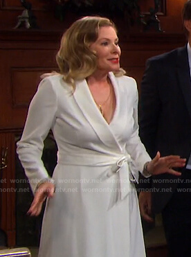 Jennifer's white wrap dress on Days of our Lives