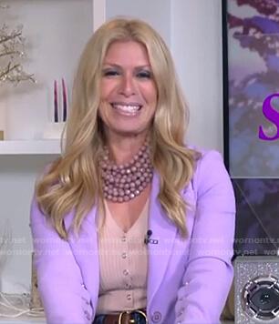 jill's lilac button-sleeve blazer on Today